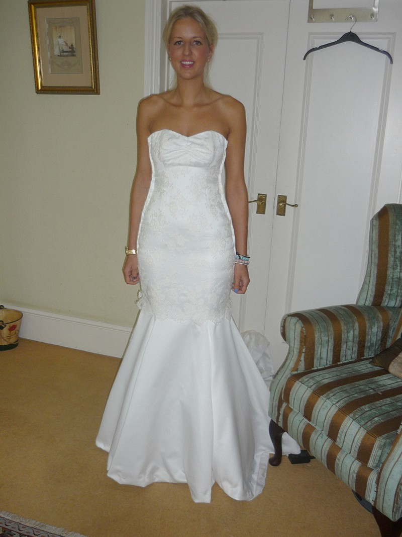 fitting picture couture wedding dress satin fishtail