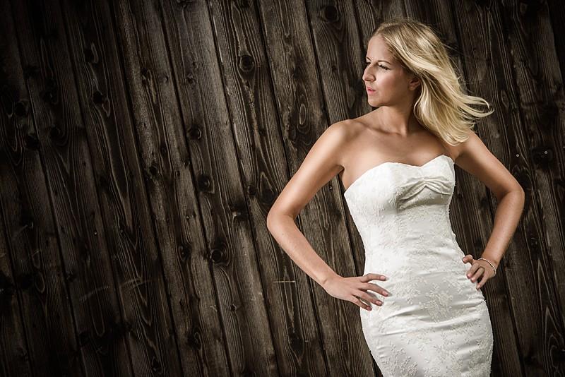 photoshoot model bride ivory lace applique location ballet pleat