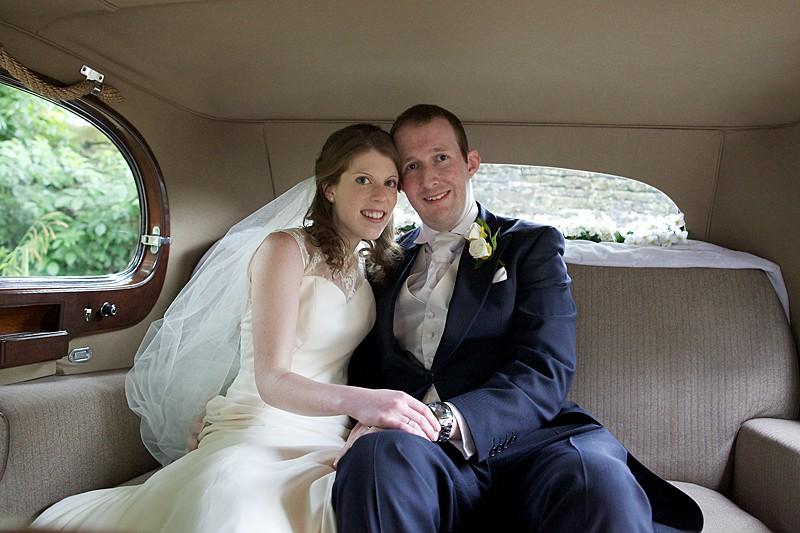 charlie 19 vintage car traditional wedding ivory silk dress and veil
