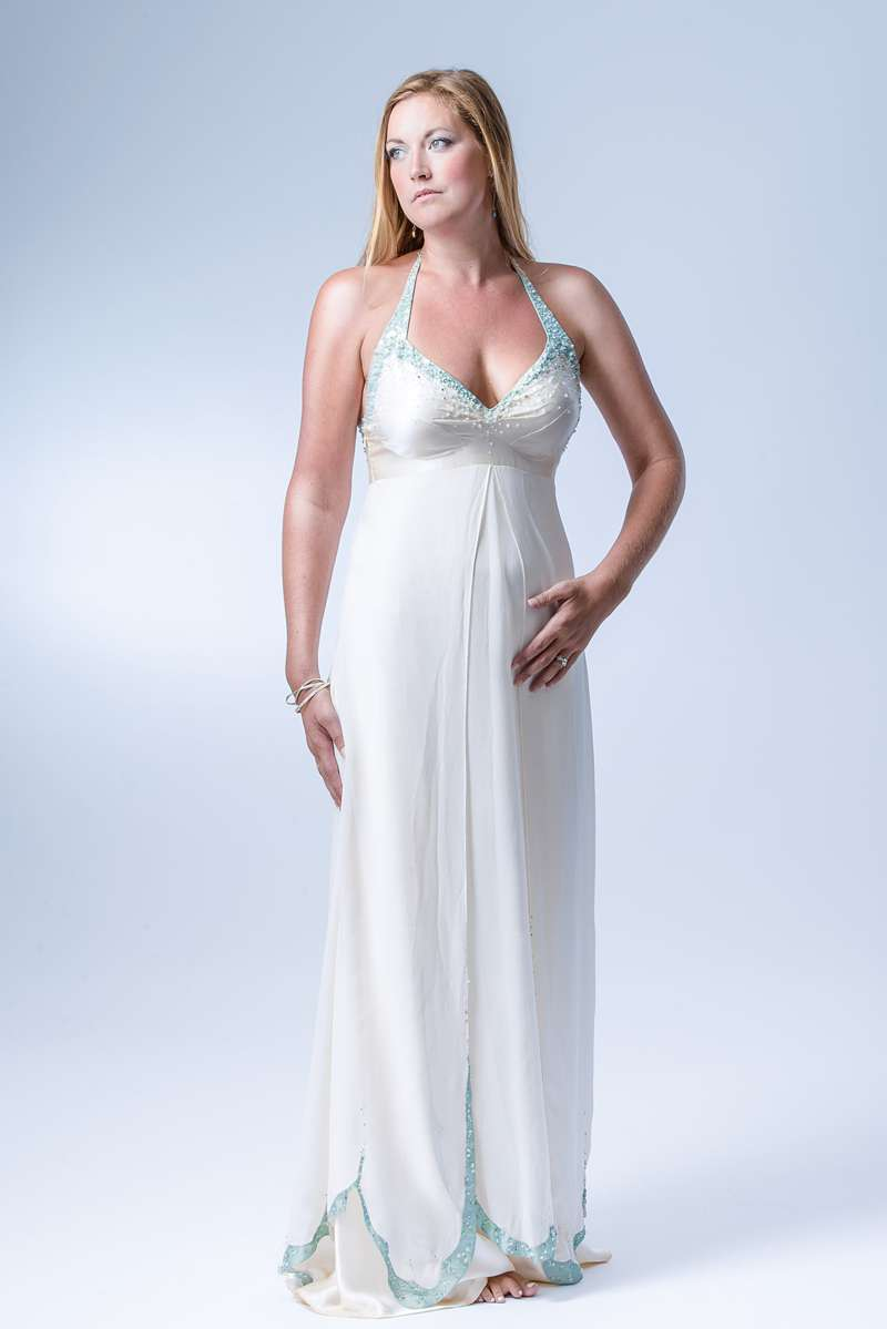 photoshoot halterneck wedding dress